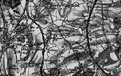 Old map of Lower Pilsley in 1896