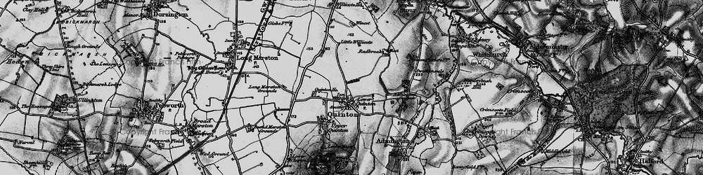 Old map of Admington Grounds in 1898