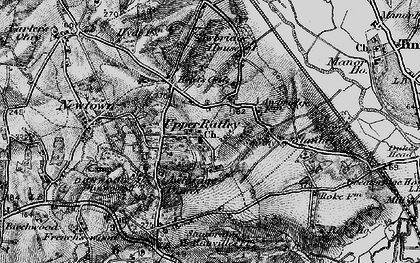 Old map of Awbridge Danes in 1895
