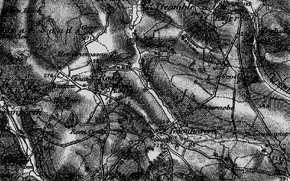 Old map of Lower Rose in 1895
