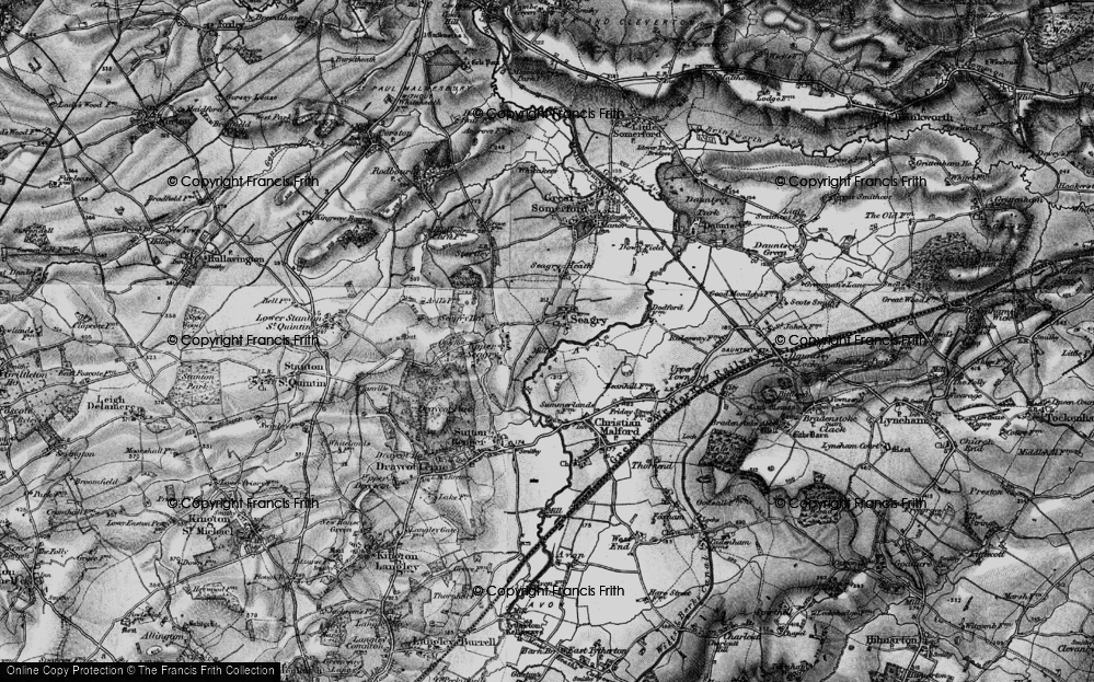 Old Map of Lower Seagry, 1898 in 1898