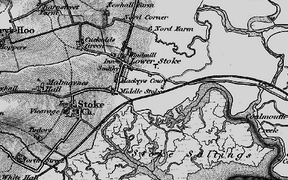 Old map of Lower Stoke in 1896