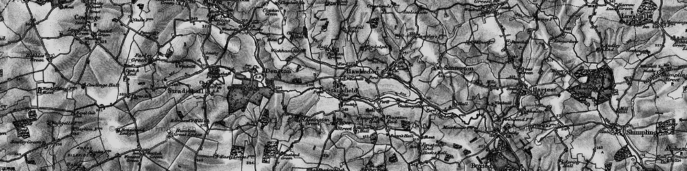 Old map of Wickham Ho in 1895