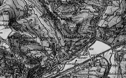 Old map of Lower Swainswick in 1898