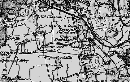 Old map of Lower Thurnham in 1898