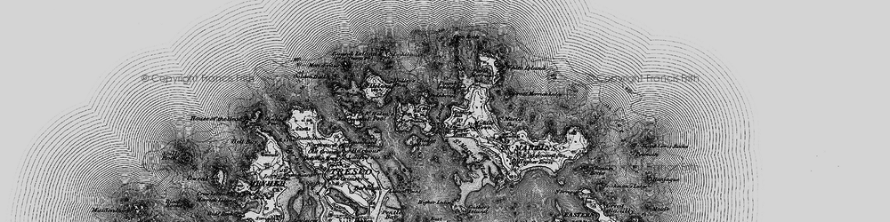 Old map of Lower Town in 1896