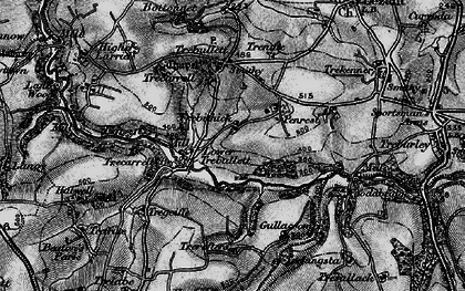 Old map of West Penrest in 1896