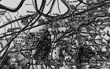 Old map of Lower Walton in 1896