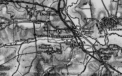 Old map of Lower Weedon in 1898