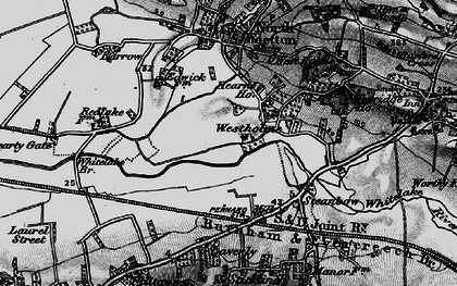 Old map of Whitelake in 1898
