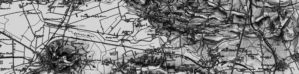 Old map of Whitelake in 1898