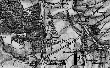 Old map of Whatcombe Down in 1898
