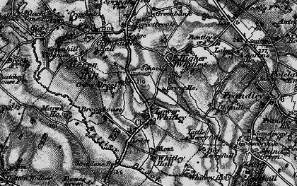 Old map of Whitley Brook in 1896