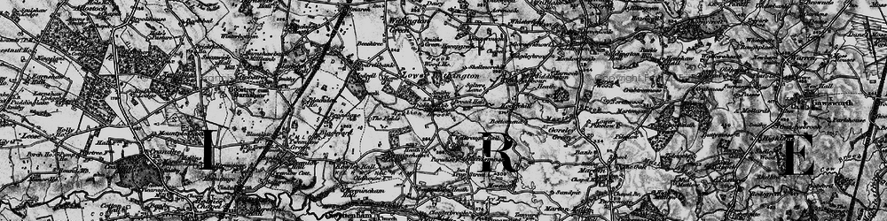 Old map of Lower Withington in 1896