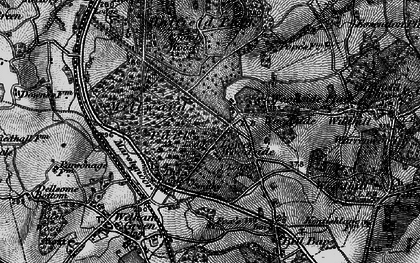 Old map of Woodside Place in 1896