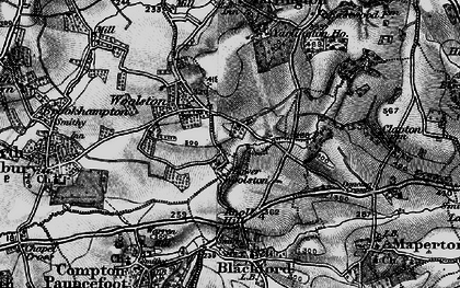 Old map of Yarlington Ho in 1898