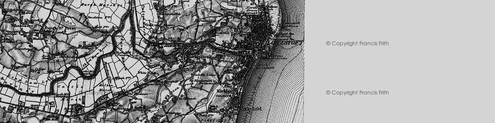 Old map of Lowestoft in 1898