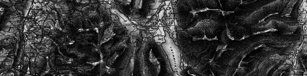 Old map of Whiteoak Beck in 1897