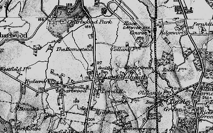 Old map of London Gatwick Airport in 1896