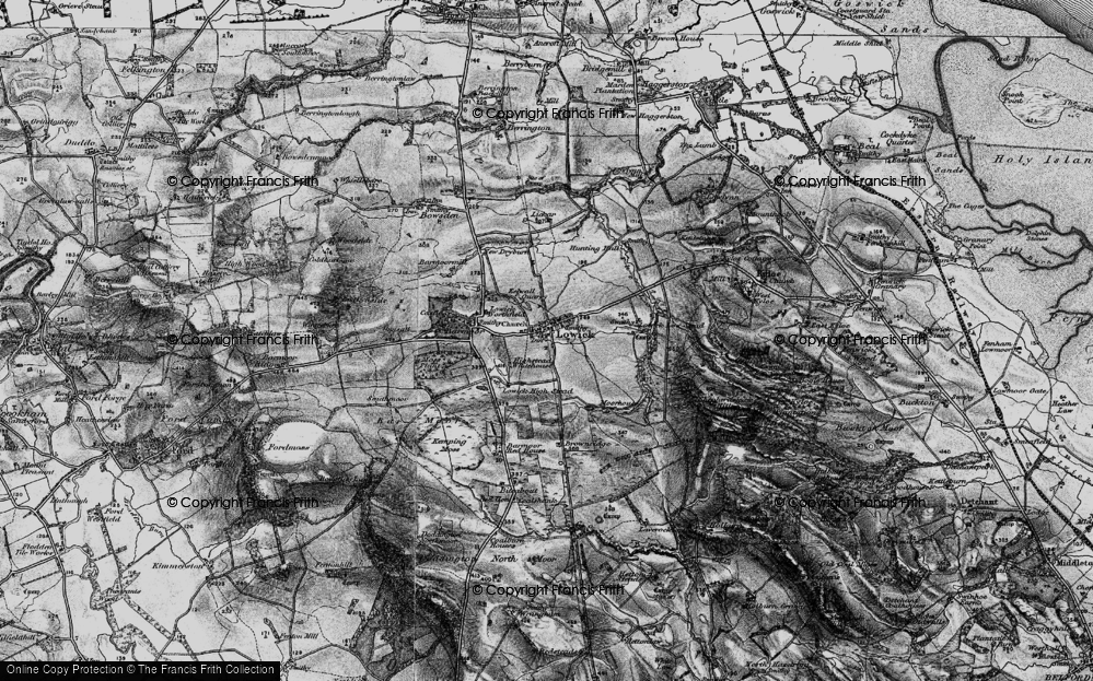Old Map of Historic Map covering Bar Moor in 1897