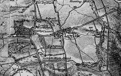 Old map of Bar Moor in 1897