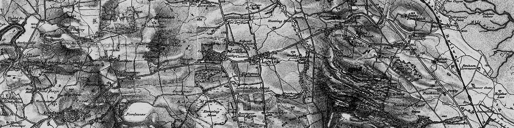 Old map of Lowick in 1897