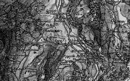 Old map of Lowick Green in 1897