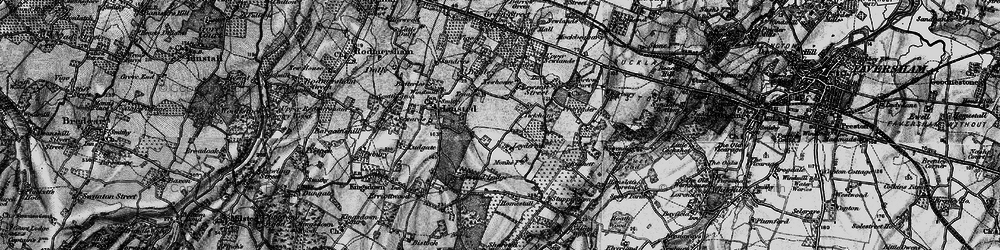 Old map of Tickham in 1895