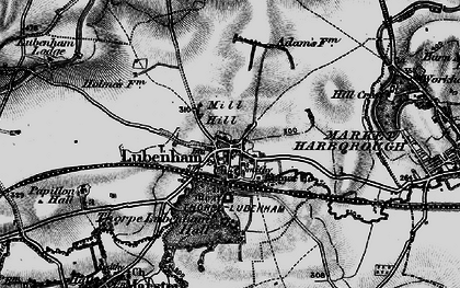 Old map of Lubenham in 1898