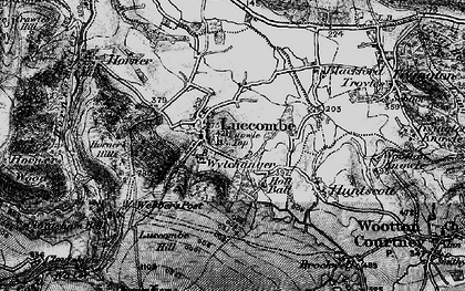 Old map of Luccombe in 1898