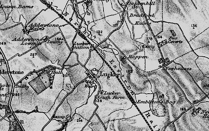 Old map of Adderstone Grange in 1897