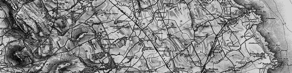 Old map of Adderstone Mains in 1897