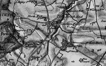 Old map of Luckington in 1898