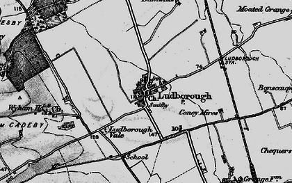 Old map of Wyham in 1899
