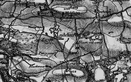 Old map of Westerton in 1898