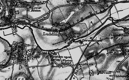 Old map of Weston Sands in 1898
