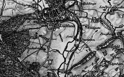 Old map of Ludford in 1899