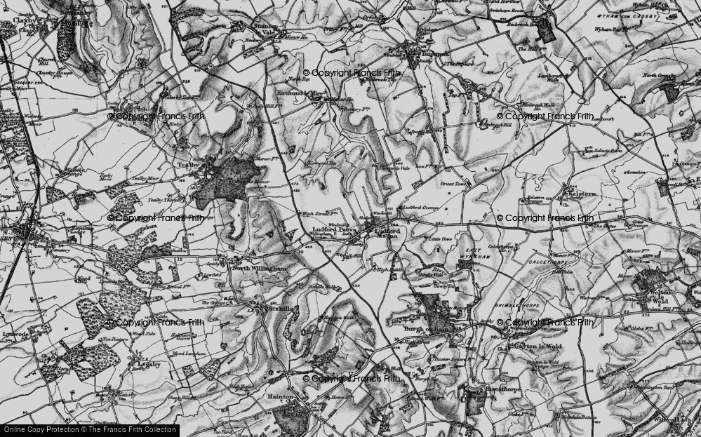 Old Map of Ludford, 1899 in 1899