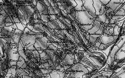 Old map of Ludgvan in 1895