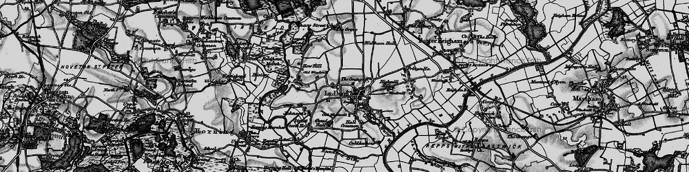 Old map of Ludham in 1898