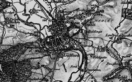 Old map of Ludlow in 1899