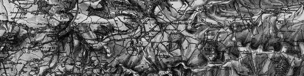 Old map of Ludwell in 1895
