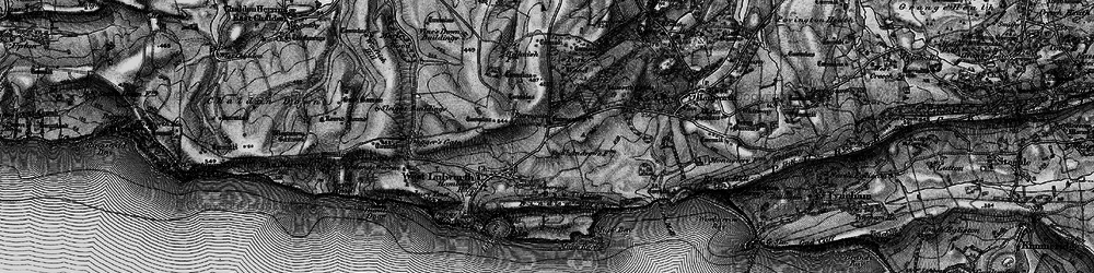 Old map of Lulworth Camp in 1897