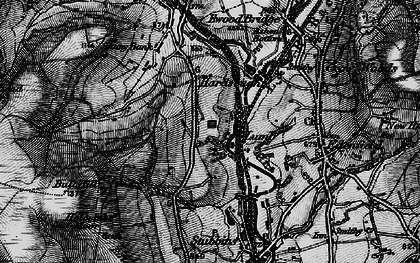 Old map of Wet Moss in 1896