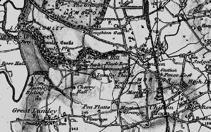 Old map of Lumley Thicks in 1898