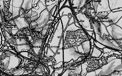 Old map of Lundwood in 1896
