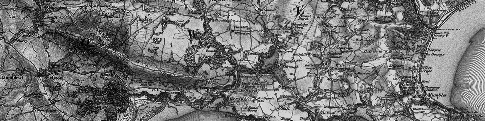 Old map of Lunnon in 1897