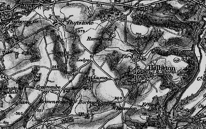 Old map of Whitemoor in 1897