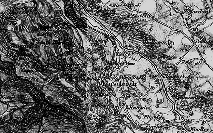 Old map of Lustleigh in 1898