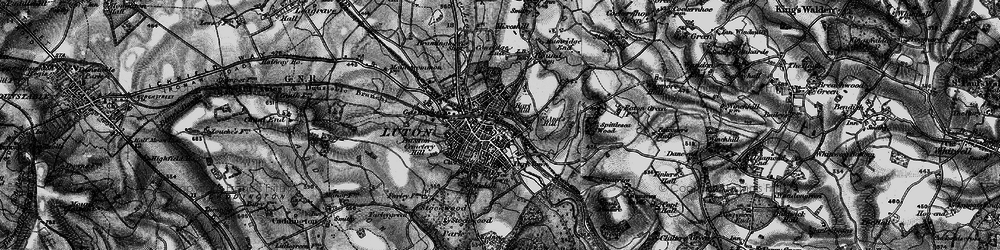 Old map of Luton in 1896